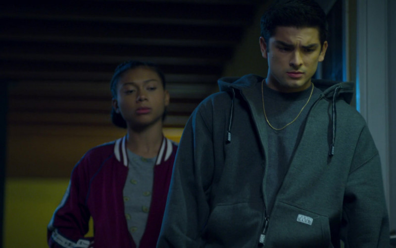 Pro Club Grey Hoodie Worn by Diego Tinoco as Cesar Diaz in On My Block S03E07