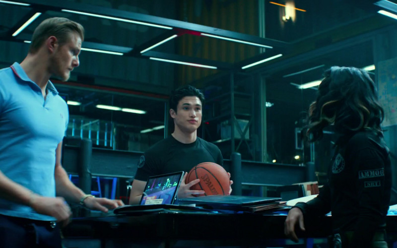 Spalding Basketball Held by Charles Melton as Rafe in Bad Boys for Life
