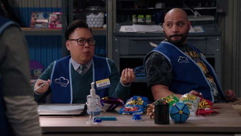 Takis Rolled Corn Tortilla Chips Enjoyed by Nico Santos and Colton Dunn in Superstore S05E19 (2)