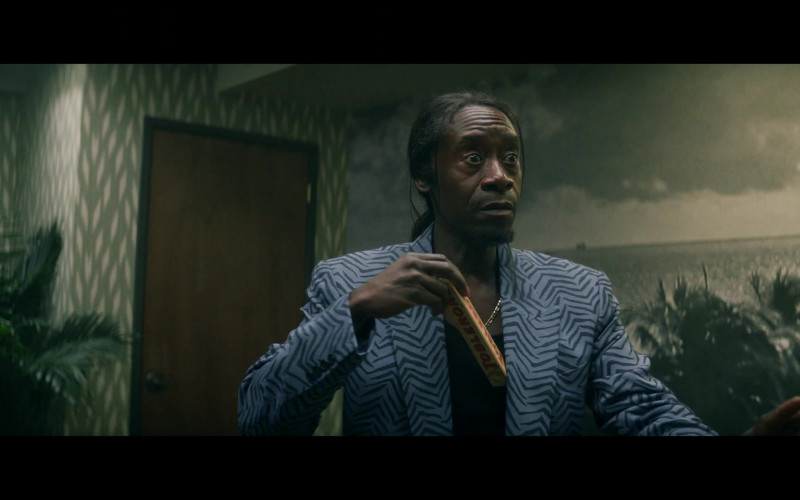 Toblerone Chocolate Held by Don Cheadle in Black Monday S02E03