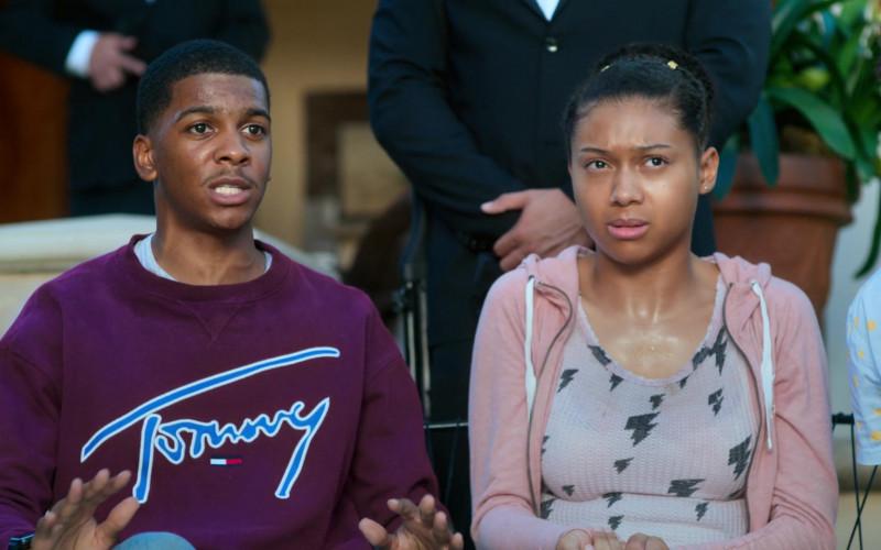 Tommy Hilfiger Sweatshirt Worn by Brett Gray as Jamal Turner in On My Block S03E01 (3)
