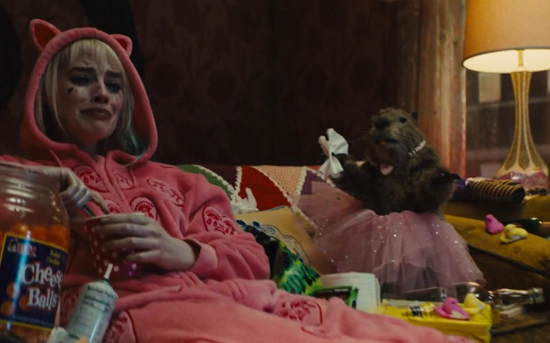 UTZ Cheese Ball Enjoyed by Margot Robbie as Harleen Quinzel in Birds of Prey