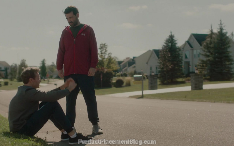 Under Armour Red Hoodie Worn by Ron Livingston in Holly Slept Over (1)