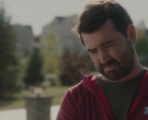 Under Armour Red Hoodie Worn by Ron Livingston in Holly Slept Over (2)