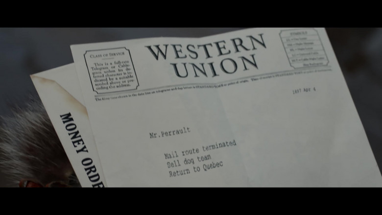 Western Union in The Call of the Wild (2020)