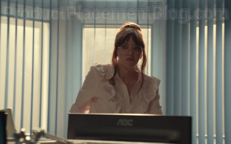 AOC Computer Monitor Used by Diane Morgan in After Life S02E03 (1)