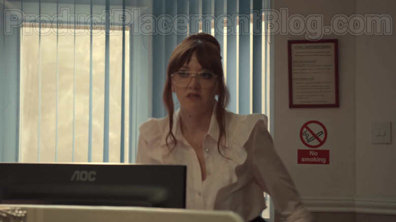 AOC Computer Monitor Used by Diane Morgan in After Life S02E03 (2)
