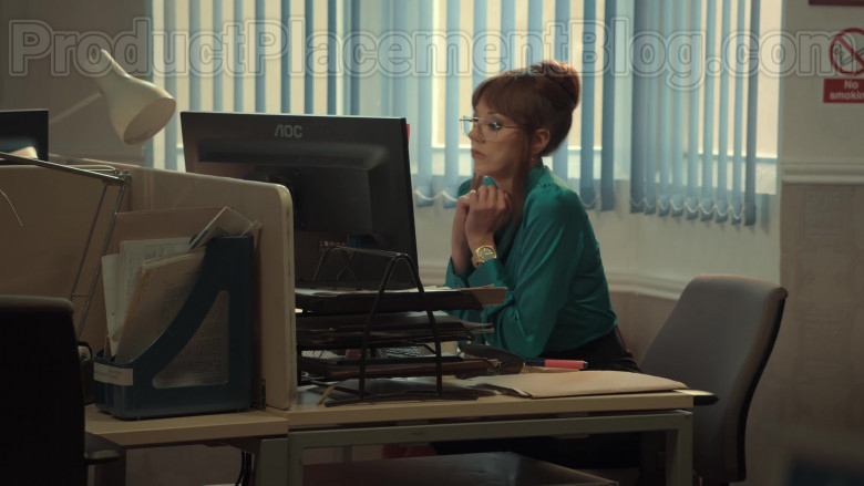AOC Monitor Used by Diane Morgan as Kath in After Life S02E02