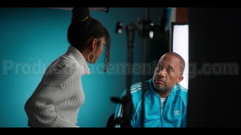 Adidas Blue Jacket of Kenya Barris in #blackAF S01E01 (2)