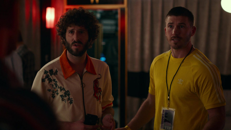 Adidas Men's Yellow T-Shirt in Dave S01E06