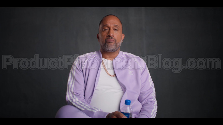 Adidas Purple Bomber Jacket and Pants (Tracksuit) of Kenya Barris in #blackAF S01E07 (2)