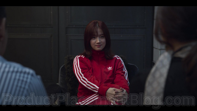 Adidas Women's Red Tracksuit in Extracurricular Netflix Original Korean TV Show (2)