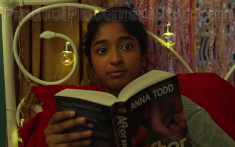 After by Anna Todd Book Held by Maitreyi Ramakrishnan as Devi Vishwakumar in Never Have I Ever S01E02