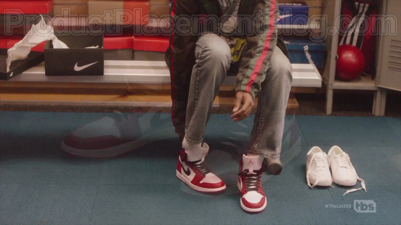 Air Jordan Red & White Sneakers by Nike in The Last O.G. S03E04 (2)