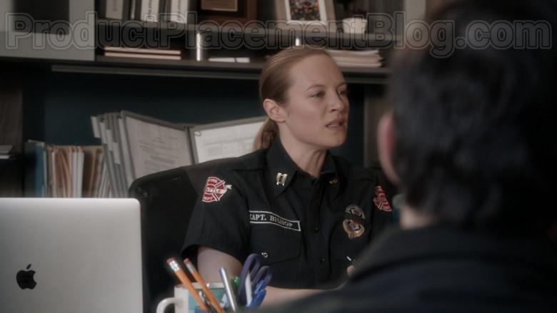 Apple MacBook Laptop of Danielle Savre as Maya Bishop in Station 19 S03E13 (2)
