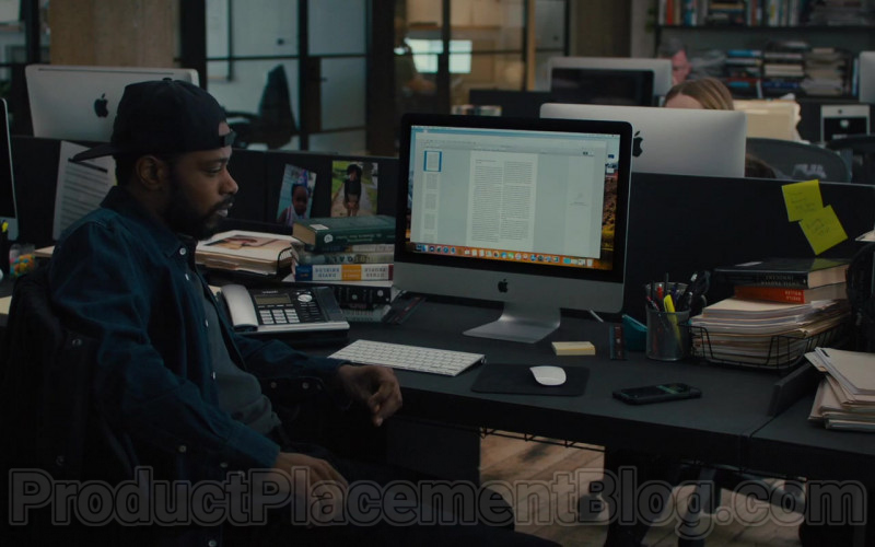 Apple iMac Computer of Lakeith Stanfield as Michael Block in The Photograph Film (1)