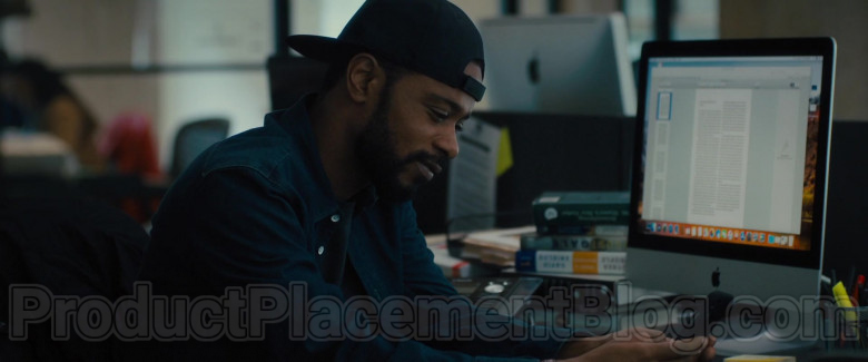 Apple iMac Computer of Lakeith Stanfield as Michael Block in The Photograph Film (2)