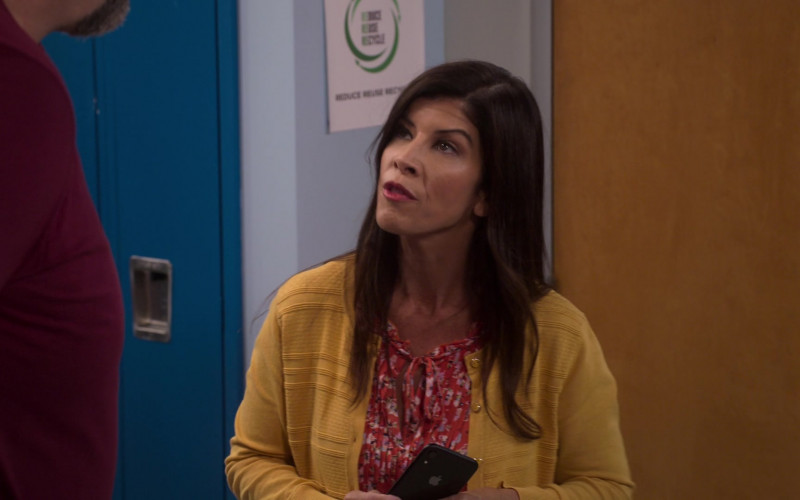 Apple iPhone Smartphone held by Marisa Chen Moller as Mrs. Goodpasture in The Big Show Show S01E01