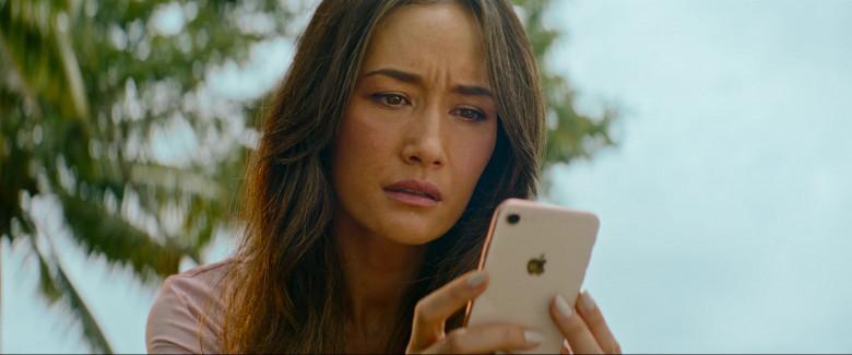 Apple iPhone Smartphone of Maggie Q (Margaret Denise Quigley) in Fantasy Island (2)