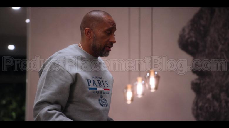 Balenciaga Paris Flag Crewneck of Kenya Barris in #blackAF S01E05