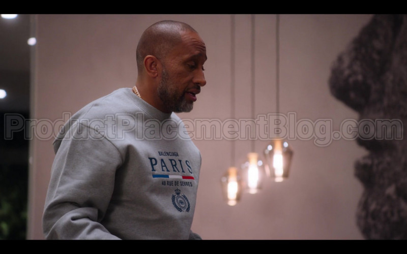 Balenciaga Paris Flag Crewneck of Kenya Barris in #blackAF S01E05