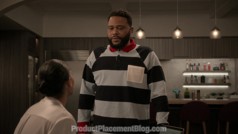 Burberry Long Sleeve Polo Shirt of Anthony Anderson in Black-ish S06E21 (4)