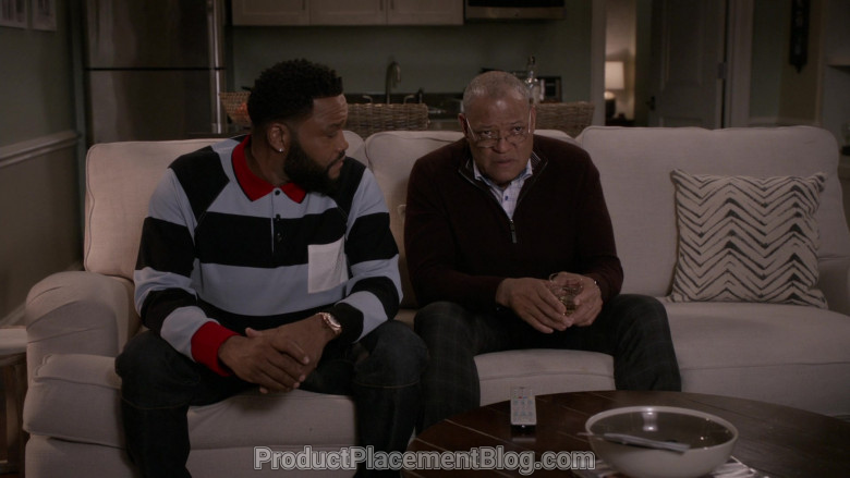 Burberry Long Sleeve Polo Shirt of Anthony Anderson in Black-ish S06E21 (5)