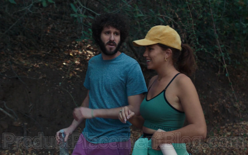 Calvin Klein Green Sports Bra of Taylor Misiak as Ally in Dave S01E09 (1)