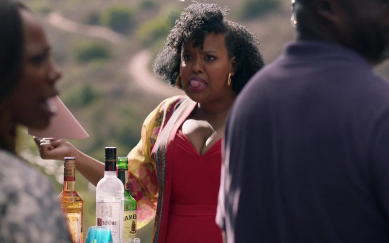 Captain Morgan Rum, Ketel One Vodka, Jameson Whiskey in Insecure S04E01