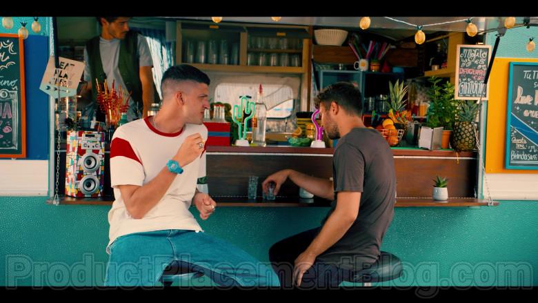 Casio G-Shock Blue Watch of Andrea Lattanzi as Dario in Summertime S01E02