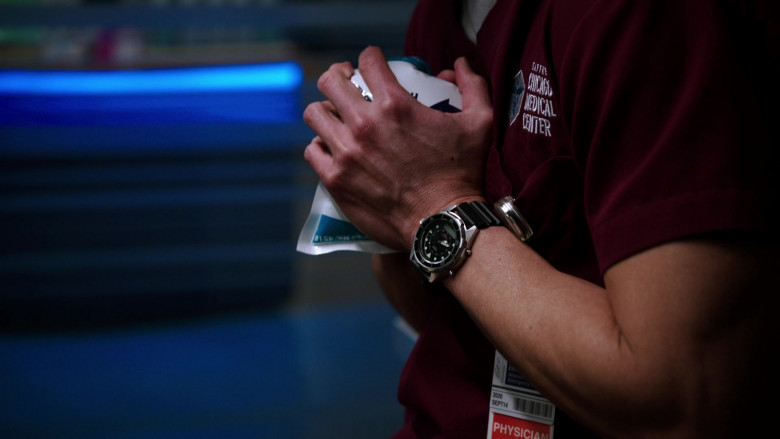 Casio Watch of Brian Tee as LCDR Dr. Ethan Choi in Chicago Med S05E19