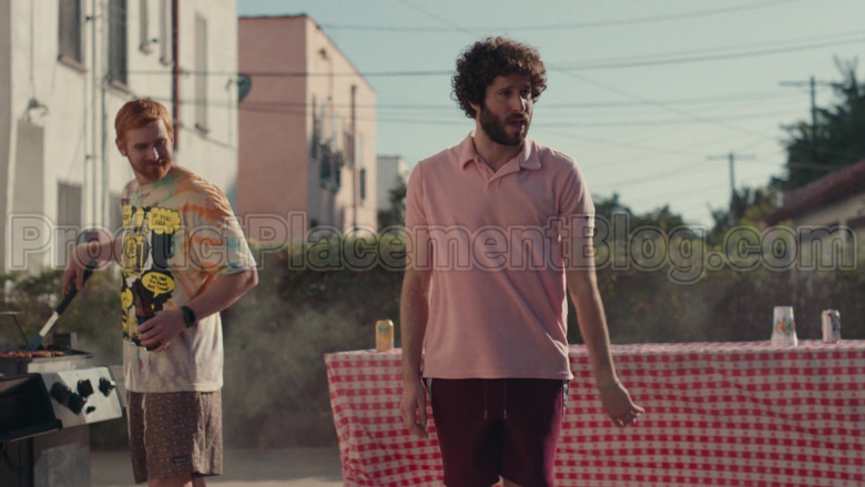 Champion Pink Polo Shirt of Lil Dicky in Dave S01E08 (1)
