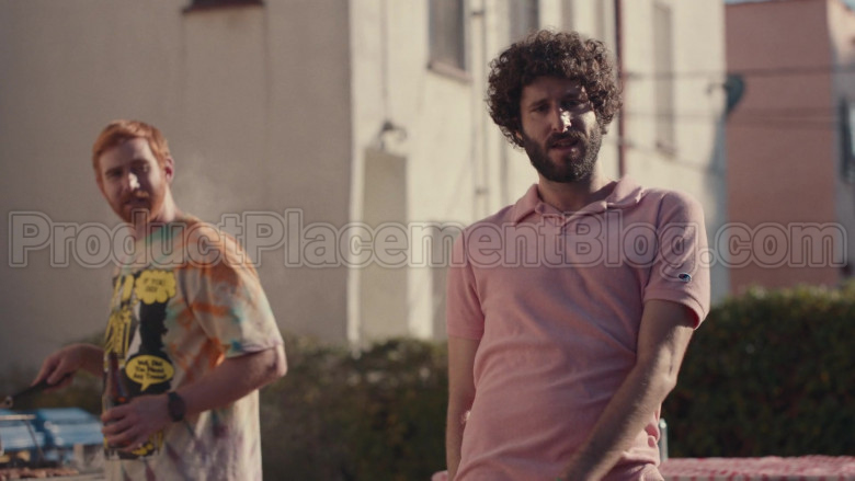 Champion Pink Polo Shirt of Lil Dicky in Dave S01E08 (2)