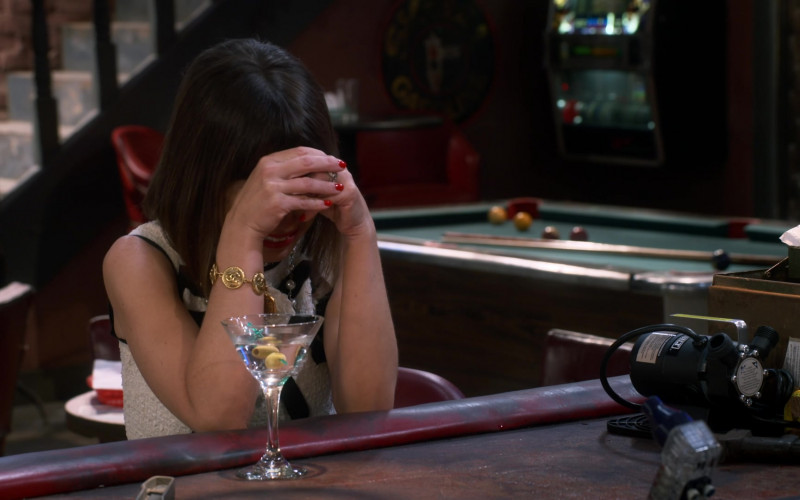 Chanel Gold Bracelet Worn by Natasha Leggero as Elizabeth in Broke S01E01