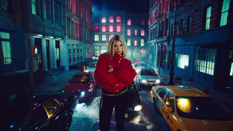 Chanel Red Down Jacket Worn by Dua Lipa in Break My Heart (5)