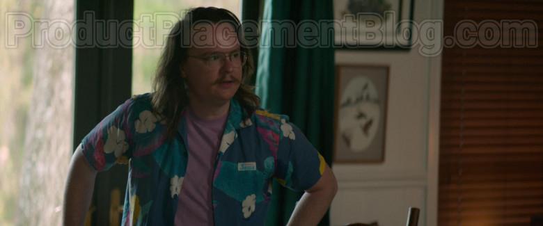 Clark Duke as Swin Wearing Jams World Hawaiian Print Shirts in Arkansas Movie (10)