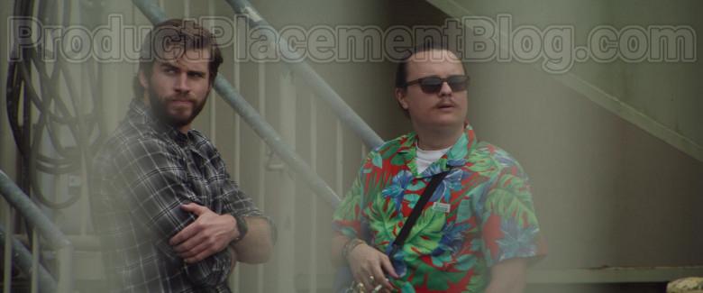 Clark Duke as Swin Wearing Jams World Hawaiian Print Shirts in Arkansas Movie (11)