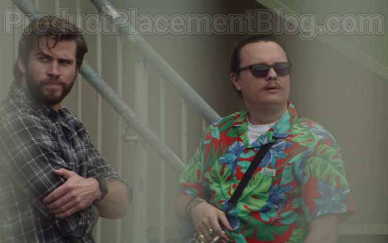 Clark Duke as Swin Wearing Jams World Hawaiian Print Shirts in Arkansas Movie (11)