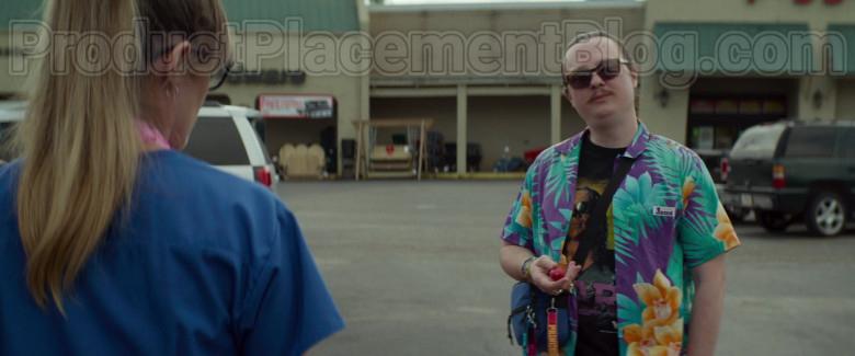 Clark Duke as Swin Wearing Jams World Hawaiian Print Shirts in Arkansas Movie (3)