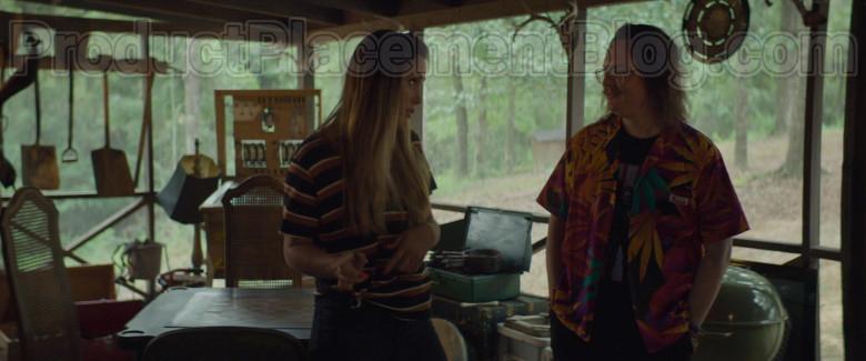 Clark Duke as Swin Wearing Jams World Hawaiian Print Shirts in Arkansas Movie (4)
