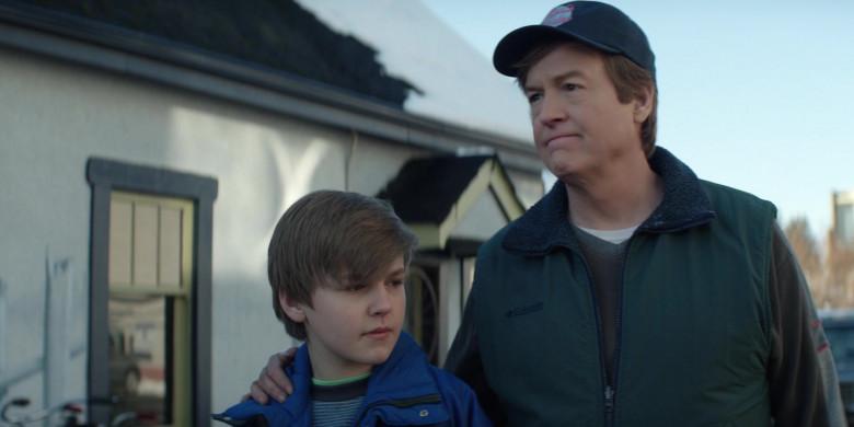 Columbia Men's Green Vest in Home Before Dark S01E05 (1)