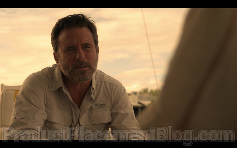 Columbia Shirt of Charles Esten as Ward Cameron in Outer Banks TV Show