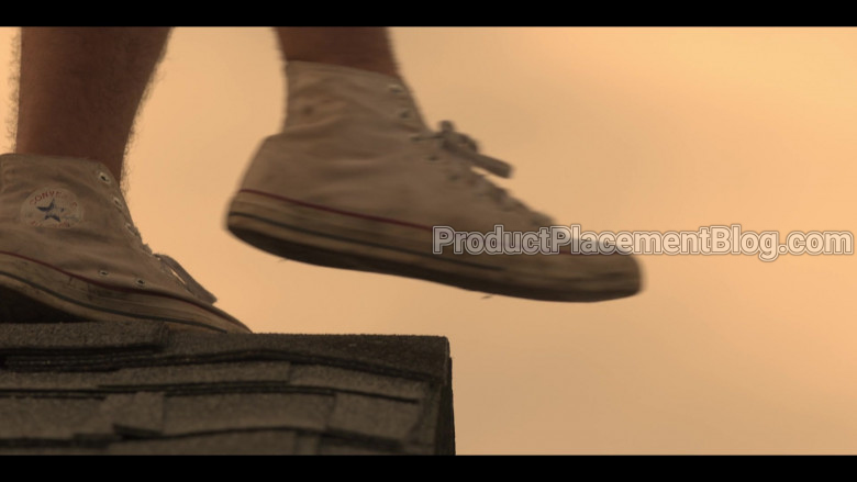 Converse White Shoes of Chase Stokes as John B in Outer Banks TV Show