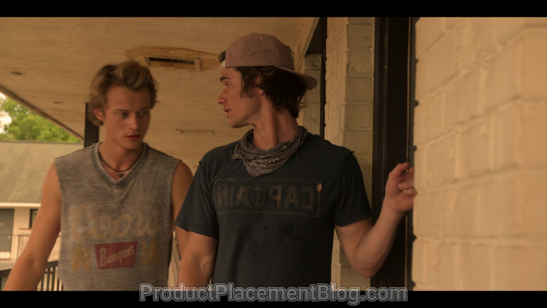 Coors Banquet Beer T-Shirt of Rudy Pankow as JJ in Outer Banks S01E01 Pilot (2)