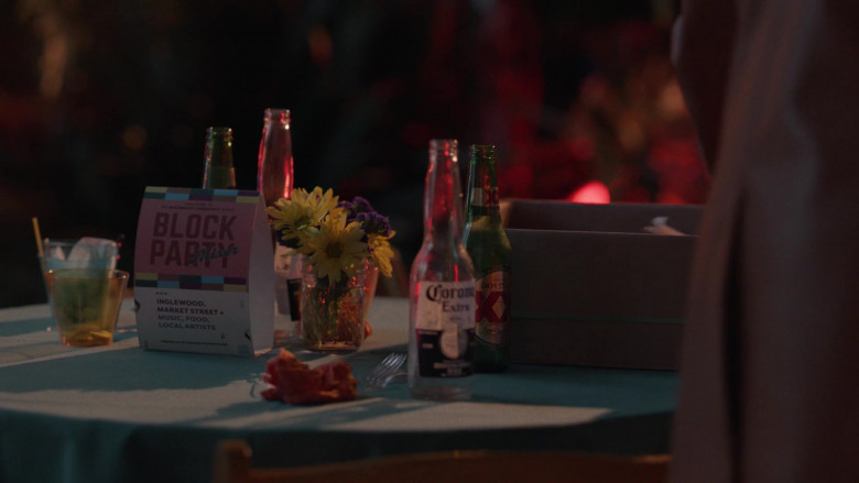 Corona Extra and Dos Equis XX Beer in Insecure S04E01