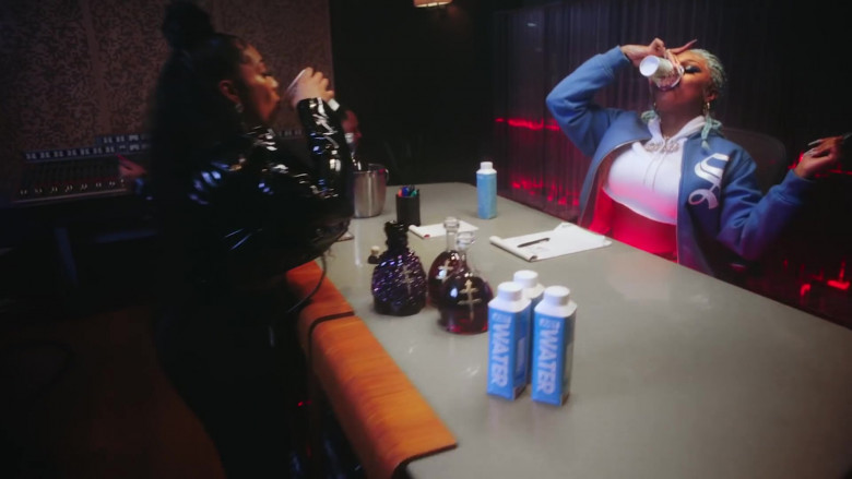 "D'USSÉ Cognacs and Just Water in ""Captain Hook"" by Megan Thee Stallion (3)"