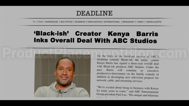 Deadline Hollywood Online News Site in #blackAF S01E01 (1)