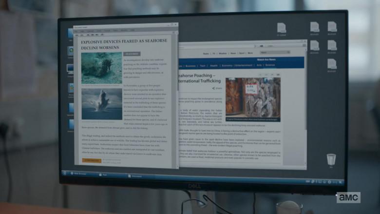 Dell Monitor in Killing Eve S03E01