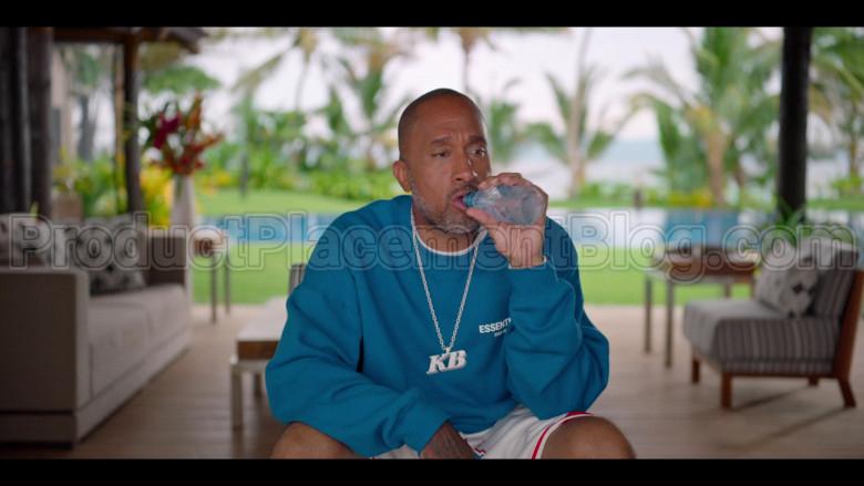 Fear of God ESSENTIALS Blue Sweatshirt of Kenya Barris in #blackAF S01E07 (1)