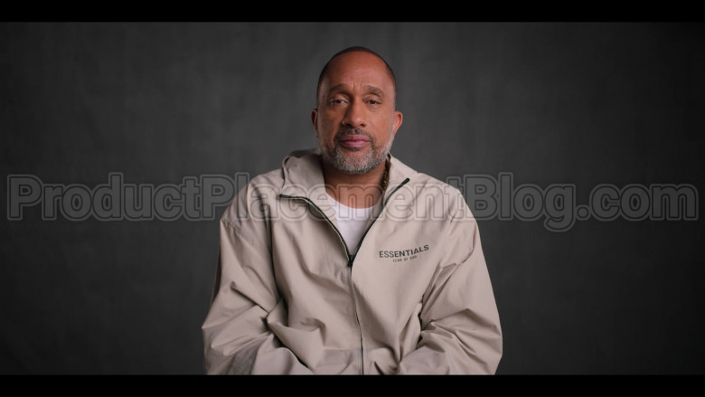 Fear of God Essentials Jacket of Kenya Barris in #blackAF S01E02 (1)
